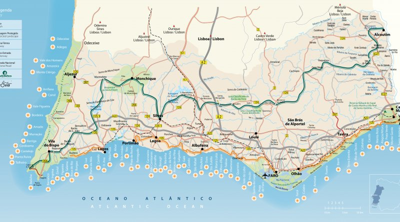 Algarve-Karte