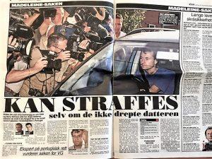 Zeitungsausschnitt aus Skandinavien zu Familie McCann
