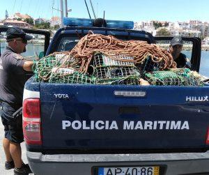 Algarve-News: Policia Maritima der Algarve beschlagnahmt in Lagos Fischfang-Gerätschaften