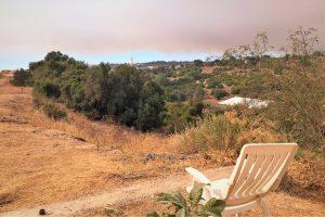 Portugal Algarve Waldbrände Hügel