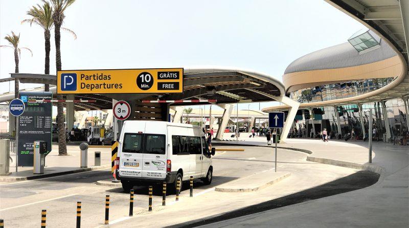 Flughafen Faro Algarve Terminal Außenansicht Juli 2017
