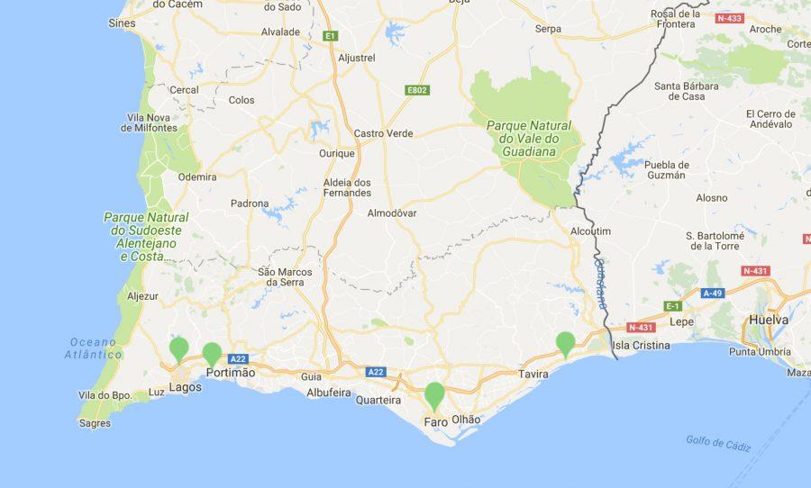 Waldbrände an der Algarve gelöscht laut fogos.pt