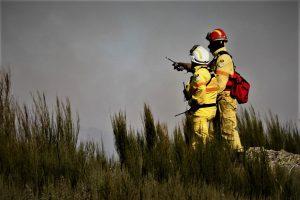 Waldbrand-Tragödie in der Mitte und im Norden Portugals im Oktober 2017