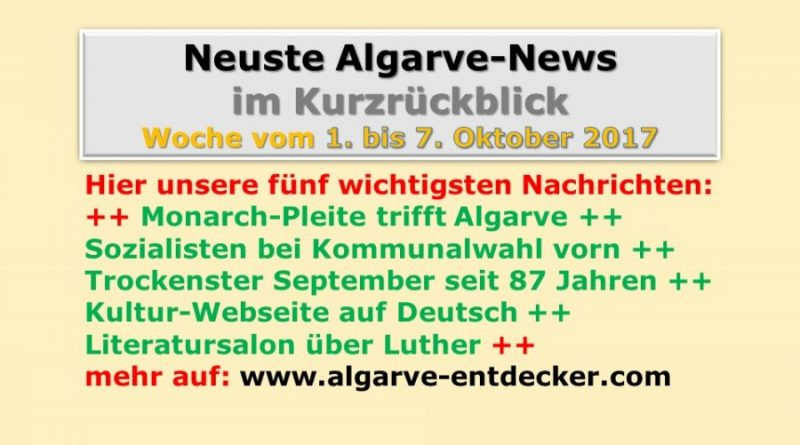 Algarve-News für die KW 40 vom 1. bis 7. Oktober 2017