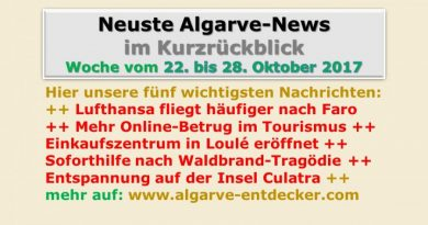 Algarve-News für die KW 43 vom 22. bis 28. Oktober 2017