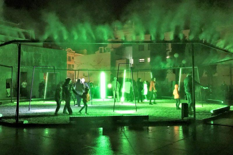 Lichtfestival LUZA in Loule an der Algarve mit interaktiven Installationen
