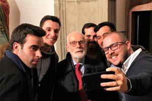 Selfie mit Ton Koopman nach seinem Faro-Konzert beim Algarve-Orgelfestival