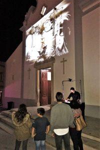 Lichtfestival LUZA in Loule an der Algarve mit Projektion von Sandkunst