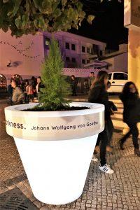 Lichtfestival LUZA in Loule an der Algarve mit Goethe-Zitat