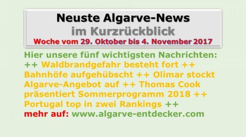 Algarve-News für die KW 44 vom 29. Oktober bis 4. November 2017
