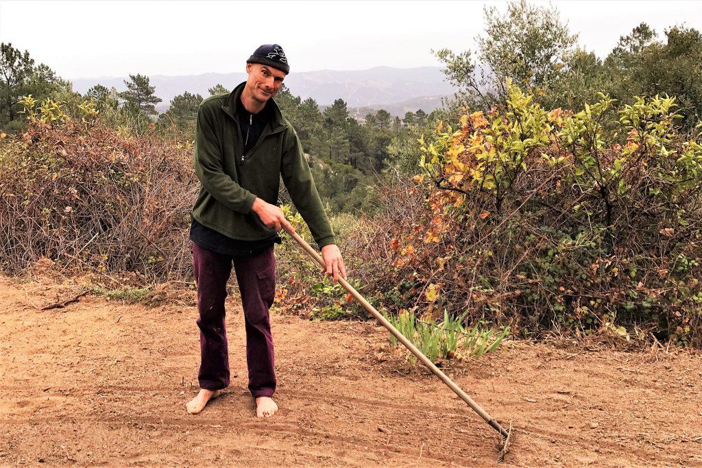 Eselwanderungen an der Algarve im Landwirtschafts-Milieu