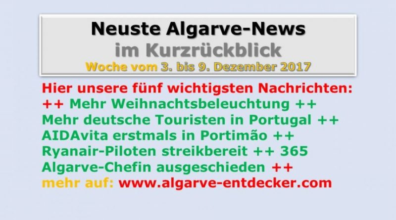 Algarve-News der KW 49 vom 3. bis 9. Dezember 2017