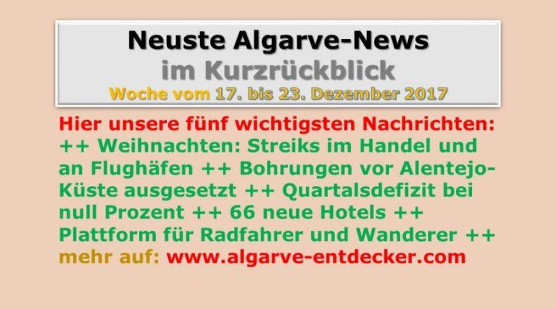 Algarve-News für die KW 51 vom 17. bis 23. Dezember 2017