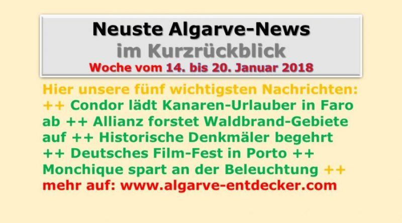 Algarve-News für KW 03 vom 14. bis 20. Januar 2018