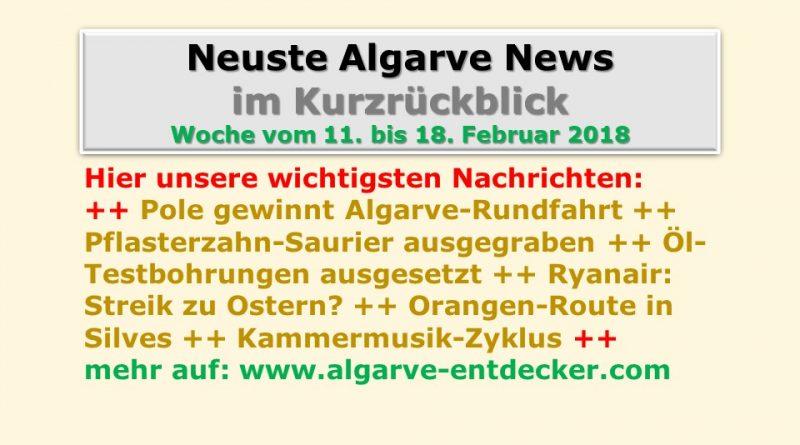 Algarve News: 11. bis 18. Februar 2018 • Algarve für Entdecker