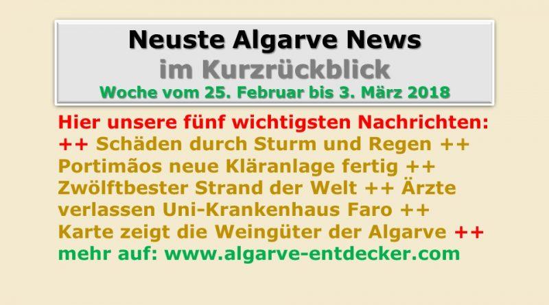 Algarve News, KW 9 vom 25. Februar bis 3. März 2018