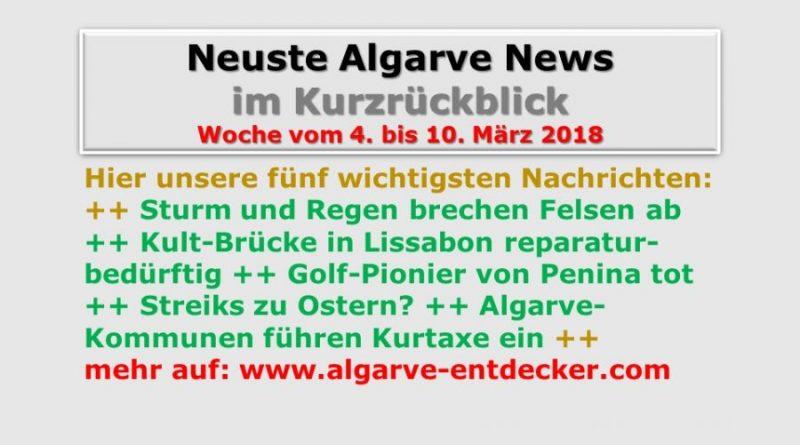 Algarve News KW 10 vom 4. bis 10. März 2018