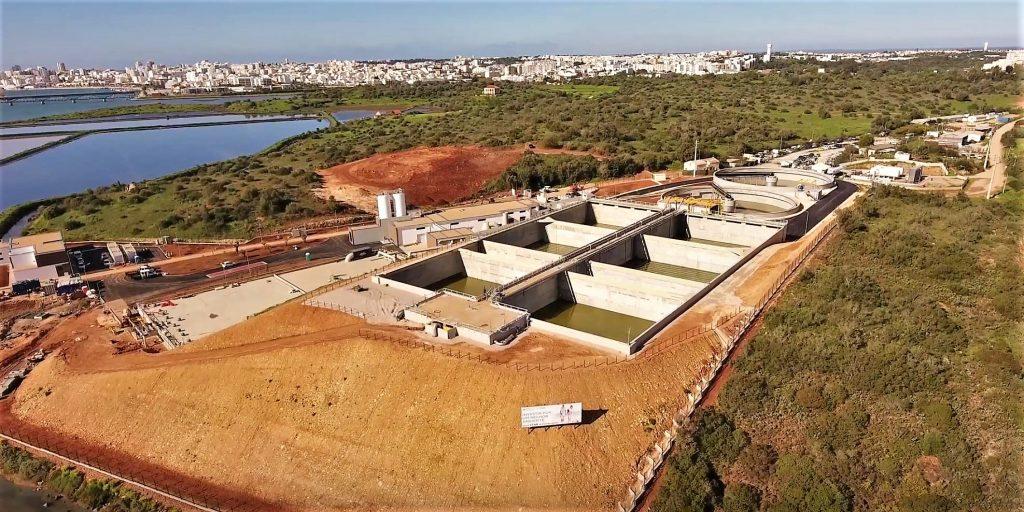 Kläranlage in Portimao aus der Luft gesehen