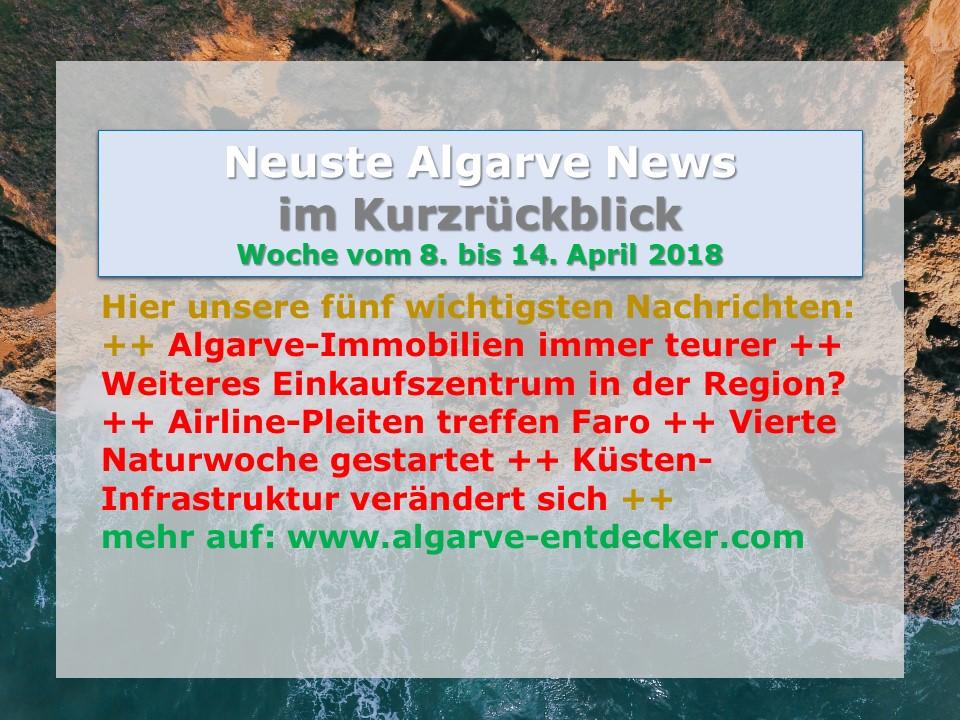 algarve news 8 bis 14 april 2018 algarve f r entdecker. Black Bedroom Furniture Sets. Home Design Ideas
