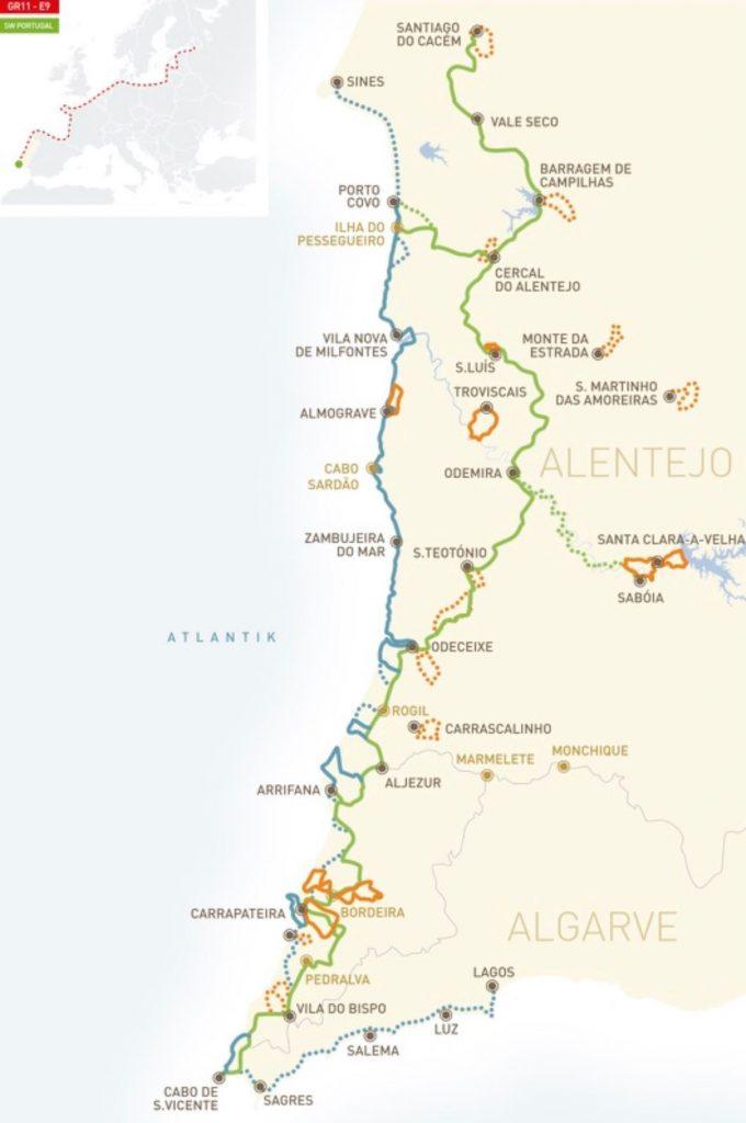 Algarve News zu Rundwanderwegen der Rota Vicentina an Westküste von Algarve und Alentejo