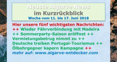 Algarve News für KW 24 vom 11. bis 17. Juni 2018