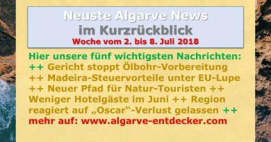 Algarve News für KW 27 vom 2. bis 8. Juli 2018