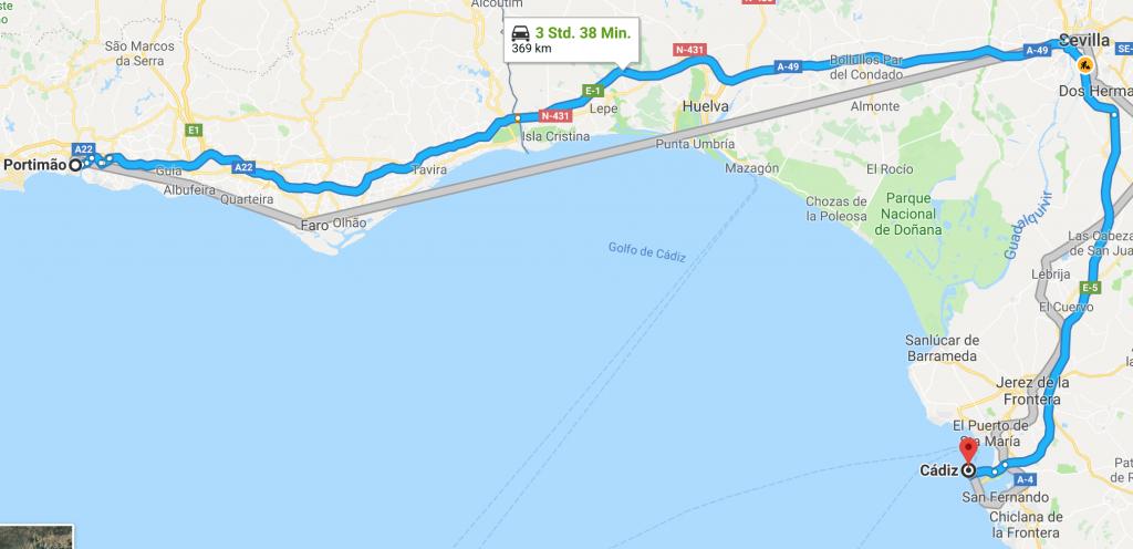 Algarve Cadiz Fähre Kanaren