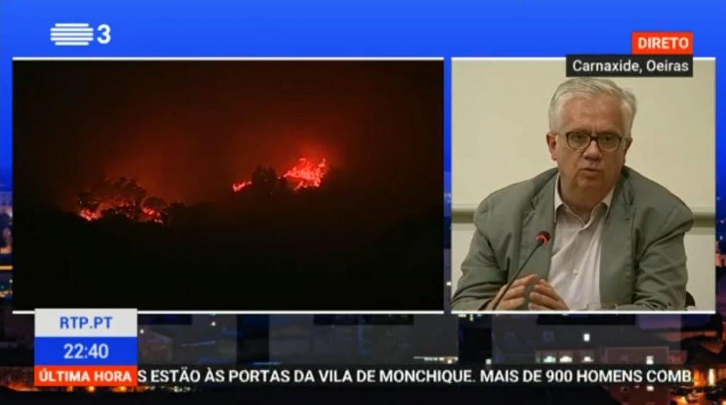 Großfeuer in Monchique an der Algarve bringt Innenminister Eduardo Cabrita zu TV-Statement