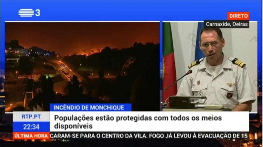 Großfeuer an der Algarve bei Monchique Thema im Fernsehen Portugals