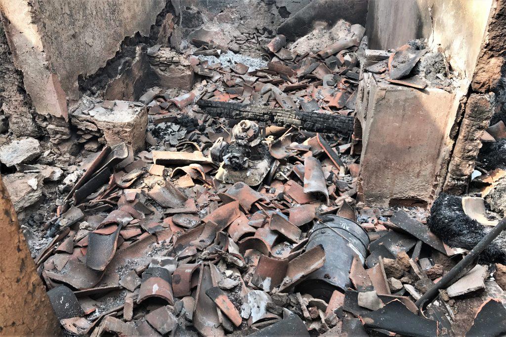 In Monchique hat der Waldbrand Häuser in Schutt und Asche gelegt - auch das von Robert Nestmann