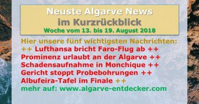 Algarve News zu KW 33 vom 13. bis 19. August 2018
