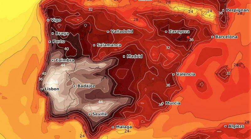 Algarve-Hitze im August 2018 auch auf der gesamten iberischen Halbinsel