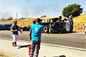 Algarve News zu schwerem Lkw-Unfall auf der N125 bei Portimao