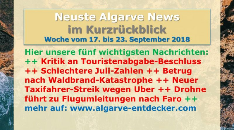 Algarve News aus KW 38 vom 17. bis 23. September 2018