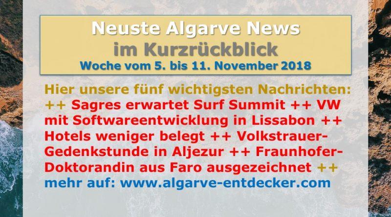 Algarve News aus KW 45 vom 5. bis 11. November 2018