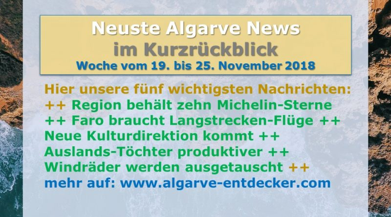 Algarve News aus KW 47 bom 19. bis 25. November 2018