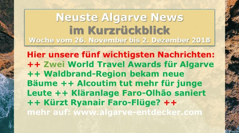 Algarve News aus KW 48 vom 26.November bis 2. Dezember 2018