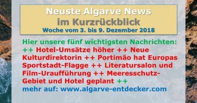 Algarve News aus KW 49 vom 3. bis 9. Dezember 2018